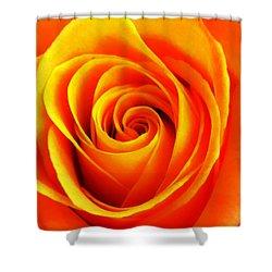 Hypnotic Orange Shower Curtain