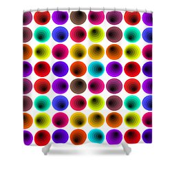 Hypnotized Optical Illusion Shower Curtain