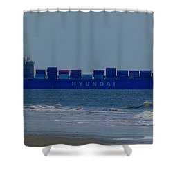 Hyundai Ship Shower Curtain