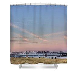 I-55 Bridge Over The Mississippi Shower Curtain