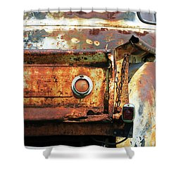 Shower Curtain featuring the photograph I Am A Little Rusty by Christopher McKenzie