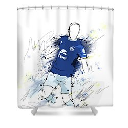 I Am Blue And White Shower Curtain
