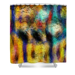 Shower Curtain featuring the digital art I Am Fine by Riana Van Staden