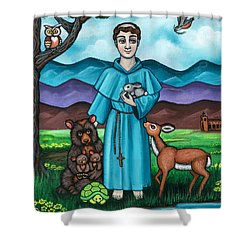 I Am Francis Shower Curtain