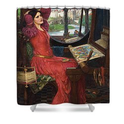 Shower Curtain featuring the painting I Am Half-sick Of Shadows, Said The Lady Of Shalott by John William Waterhouse