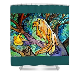 I Am Here For You Shower Curtain by Claudia Cole Meek