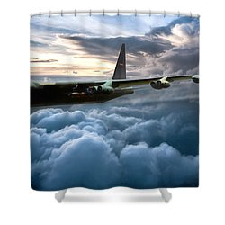 I Am Legend B-52 Shower Curtain by Peter Chilelli