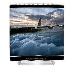 I Am Legend B-52 V2 Shower Curtain by Peter Chilelli