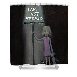Shower Curtain featuring the painting I Am Not Afraid by Tone Aanderaa