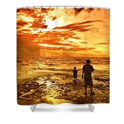 I Am Not Alone Shower Curtain by Charuhas Images