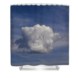 I Am One Cloud Affirmation Shower Curtain