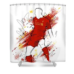 I Am Red #2 Shower Curtain