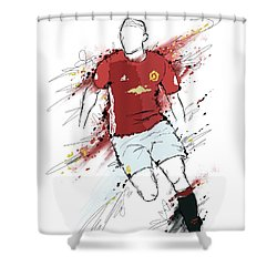 I Am Red And Black Shower Curtain