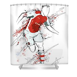 I Am Red And White Shower Curtain