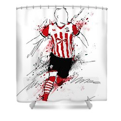 I Am Red And White Stripes Shower Curtain