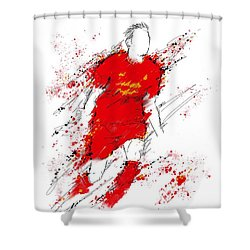 I Am Red Shower Curtain