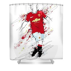 I Am Red, White And Black Shower Curtain