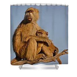 I Am So Scared Mama Shower Curtain by Joe Bonita