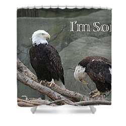 I Am Sorry Shower Curtain by Michael Peychich