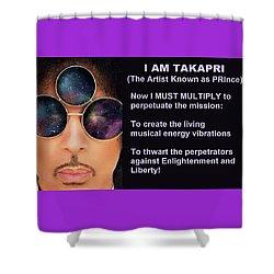 I Am Takapri Shower Curtain