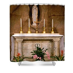 I Am The Immaculate Conception - Tiny Chapel On Crypt Level Shower Curtain