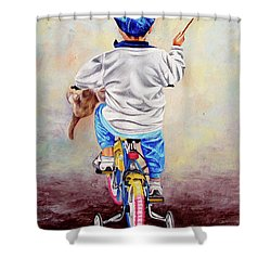I Am The King Of The World 1 - Yo Soy El Rey Del Mundo 1 Shower Curtain
