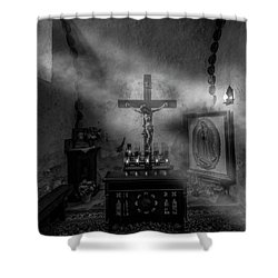 Shower Curtain featuring the photograph I Am The Light Of The World by David Morefield