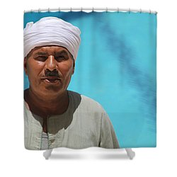 I Am The Pool Man Shower Curtain by Jez C Self