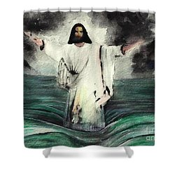 I Am Will Calm Your Sea Shower Curtain