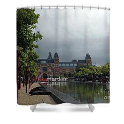 I Amsterdam Shower Curtain by Therese Alcorn