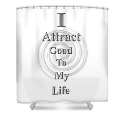 I Attract Silver Shower Curtain