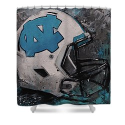 I Bleed Carolina Blue Tarheel Wall Art Football Helment Shower Curtain