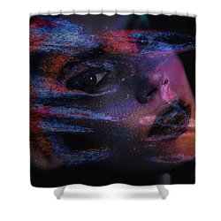 I Breathe Art Therefore I Am Art Shower Curtain