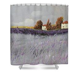 I Campi Di Lavanda Shower Curtain by Guido Borelli