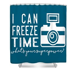Shower Curtain featuring the photograph I Can Freeze Time by Heather Applegate
