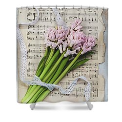 Shower Curtain featuring the photograph I Can Hear Music by Kim Hojnacki