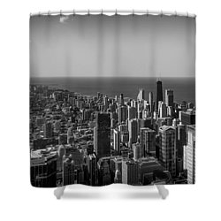 Shower Curtain featuring the photograph I Can See For Miles And Miles by Howard Salmon