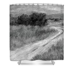 I Can See For Miles Study Shower Curtain