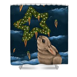 Shower Curtain featuring the painting I Can Smell The Christmas In The Air by Veronica Minozzi