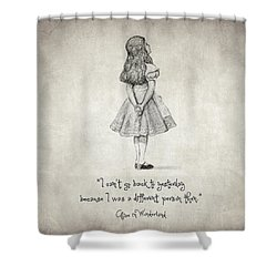 I Can't Go Back To Yesterday Quote Shower Curtain by Taylan Apukovska