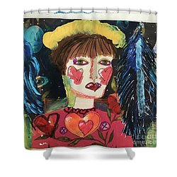 I Carry Your Heart In My Heart Shower Curtain