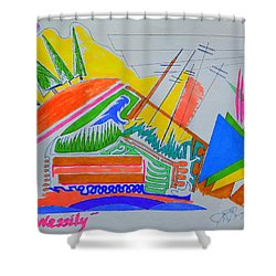 I Dig Vassily Shower Curtain