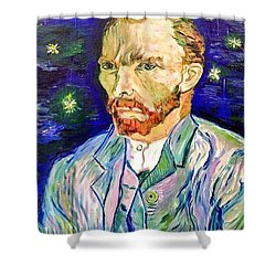 Shower Curtain featuring the painting I Dream My Painting And I Paint My Dream by Belinda Low