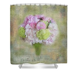 Shower Curtain featuring the painting I Dream Of Bouquets by Colleen Taylor