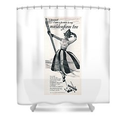 Shower Curtain featuring the digital art I Dreamed I Was A Fireman In My Maidenform Bra by Reinvintaged