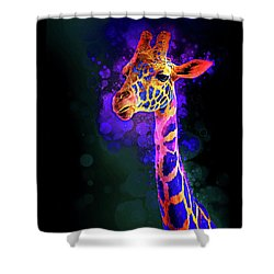 Shower Curtain featuring the photograph I Dreamt A Giraffe by James Sage