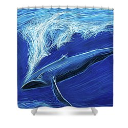 Shower Curtain featuring the painting I Fight For Clean Waters by Angela Treat Lyon