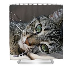 I Get Lost In Your Eyes Shower Curtain by Heather King