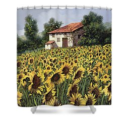 I Girasoli Nel Campo Shower Curtain by Guido Borelli