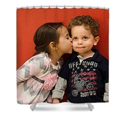 I Give You A Kiss Shower Curtain